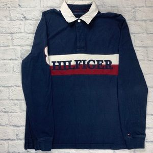 Tommy Hilfiger Shirts - Tommy Hilfiger Rugby Long Sleeve Polo